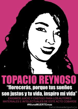 A poster produced by a youth journal to commemorate Merilyn Topacio Reynoso.