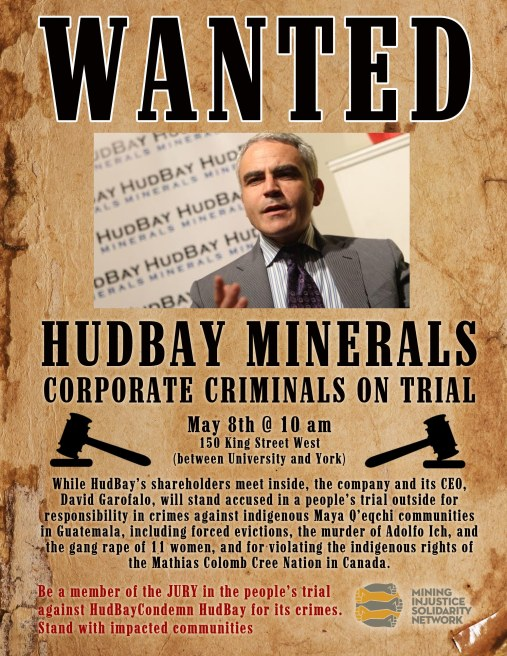 Hudbay Minerals - Criminals on Trial